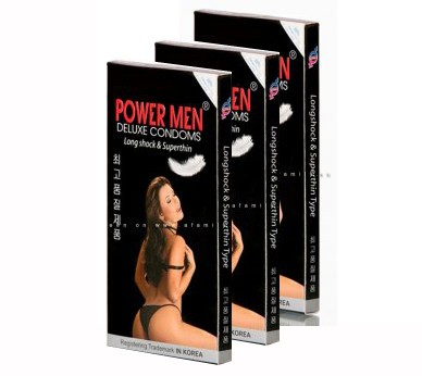 Bao cao su Power Men Long Shock and Superthin – hộp 2 chiếc
